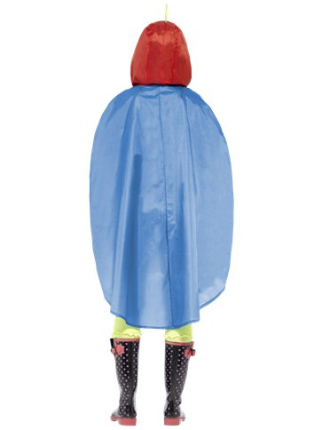 Unisex Parrot Party Poncho - Adult Costume back