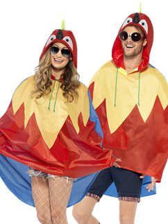 Unisex Parrot Party Poncho