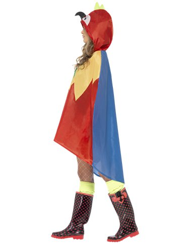 Unisex Parrot Party Poncho - Adult Costume left