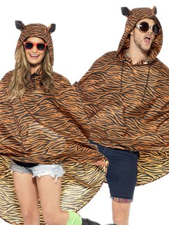 Unisex Tiger Party Poncho
