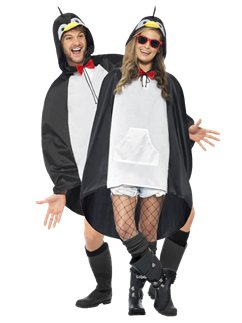 Unisex Penguin Party Poncho