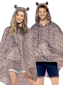 Unisex Leopard Party Poncho