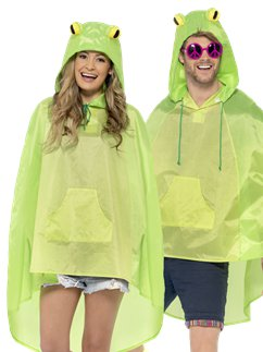 Unisex Frog Party Poncho