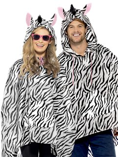 Unisex Zebra Party Poncho