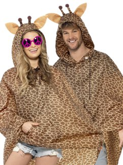 Unisex Giraffe Party Poncho