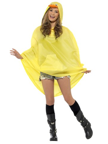 Unisex Duck Party Poncho - Adult Costume back