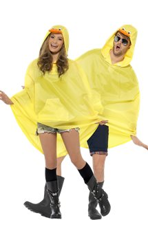 Unisex Duck Party Poncho - Adult Costume