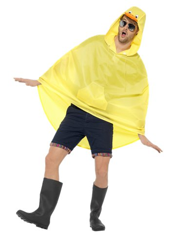 Unisex Duck Party Poncho - Adult Costume left