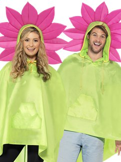 Unisex Flower Party Poncho