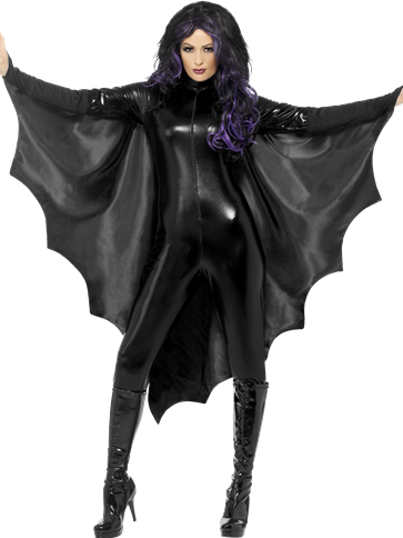 Vampire Bat Wings Cape - Adult Costumes front