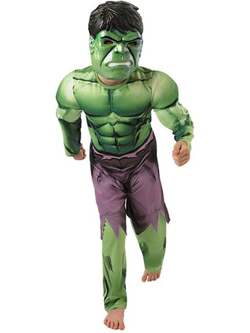 Hulk Deluxe Muscle Chest - Child Costume front