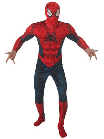 Spider-Man Deluxe Muscle Chest - Adult Costume front