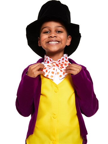 Roald Dahl Willy Wonka - Child and Teen Costume back