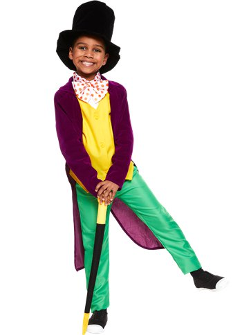 Roald Dahl Willy Wonka - Child and Teen Costume front