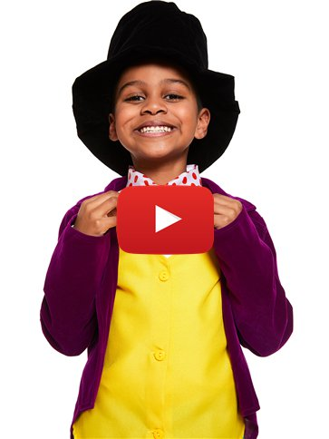 Roald Dahl Willy Wonka - Child and Teen Costume video