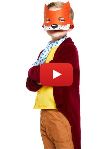 Fantastic Mr Fox Boys Roald Dahl  Fancy Dress Book Character Childs Kids Costume