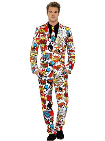 Comic Strip Stand Out Suit - Adult Costume front
