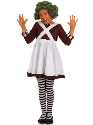 Factory Worker Girl - Child Costume front