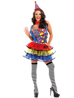 Halloween Clown Girl Outfit.Clown Costumes Party Delights