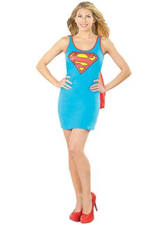 Supergirl Tank Dress  sc 1 st  Party Delights & Superman u0026 Supergirl Fancy Dress Costumes | Party Delights