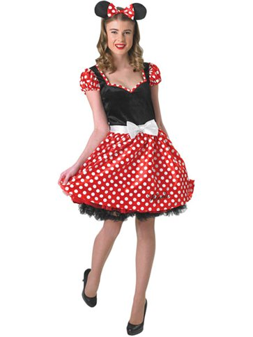 Sassy Minnie Mouse - Adult Costume front