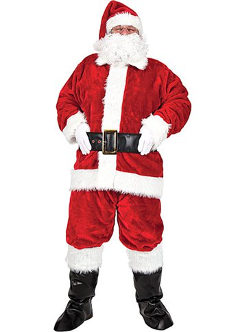 Plush Santa Suit - Adult Costume front