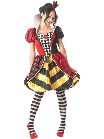 Sassy Queen of Hearts - Adult Costume front