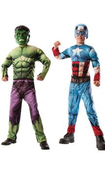 Hulk to Captain America Deluxe Muscle Chest - Child Costume