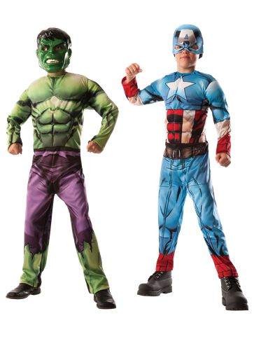 Hulk to Captain America Deluxe Muscle Chest - Child Costume front