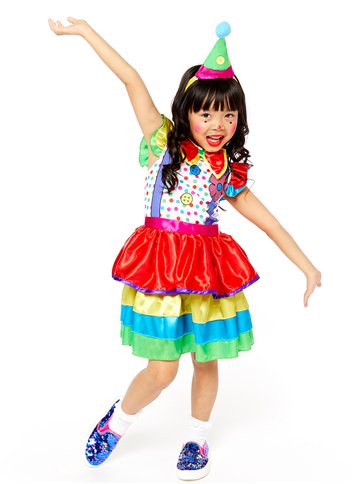 Clown Girl Deluxe- Child Costume front
