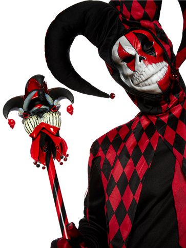 Krazed Jester - Adult Costume back
