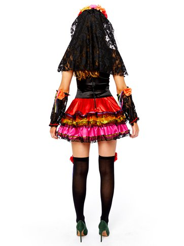 Day of the Dead Senorita - Adult Costume back