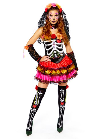 Day of the Dead Senorita - Adult Costume front