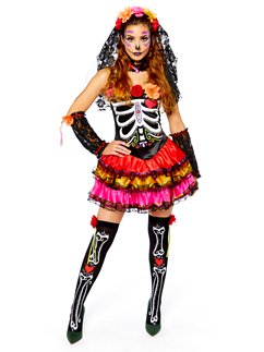 Day of the Dead Senorita  sc 1 st  Party Delights : dinosaur rave costume  - Germanpascual.Com