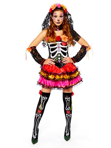 Day of the Dead Senorita - Adult Costume left