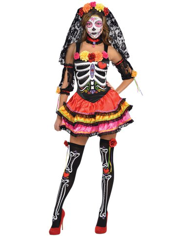 Day of the Dead Senorita - Adult Costume pla