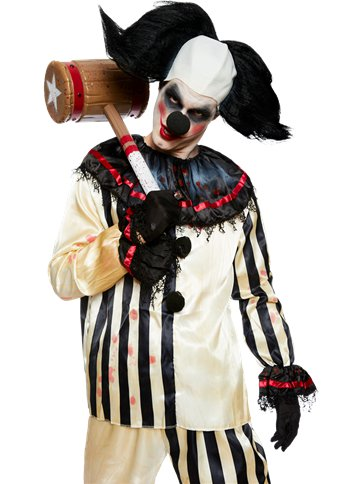 Scary Clown Costume - Adult Costume back