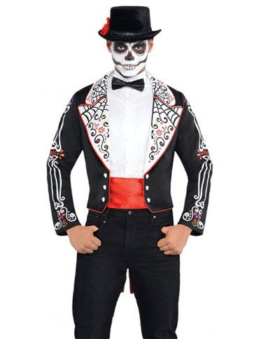 Day of the Dead Coat Set - Adult Costume front