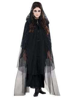 Lace Hooded Cape