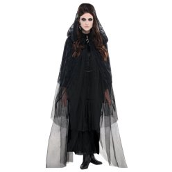 Lace Hooded Cape - Adult Costume