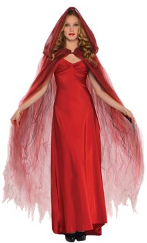 Scarlet Temptress Cape - Adult Costume