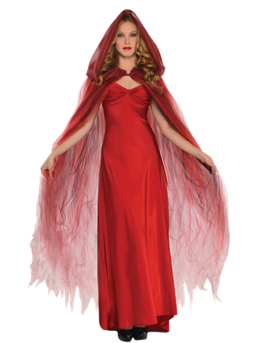 Scarlet Temptress Cape - Adult Costume front