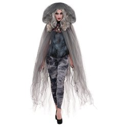 Grey Hooded Cape - Adult Costume