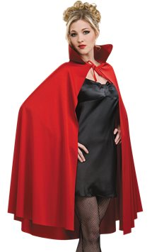 Red Mid Length Cape - Adult Costume