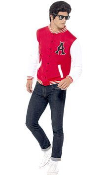 50's College Jock Letterman Jacket - Adult Costume
