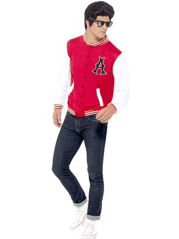 8a93079b9baed 50's College Jock Letterman Jacket - Adult Costume | Party Delights