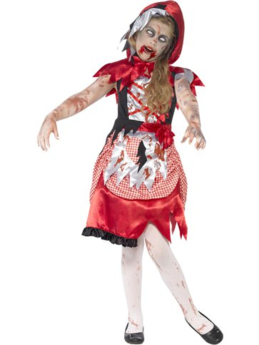 Zombie Miss Hood - Child Costume front