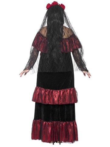 Day of the Dead Bride - Adult Costume back
