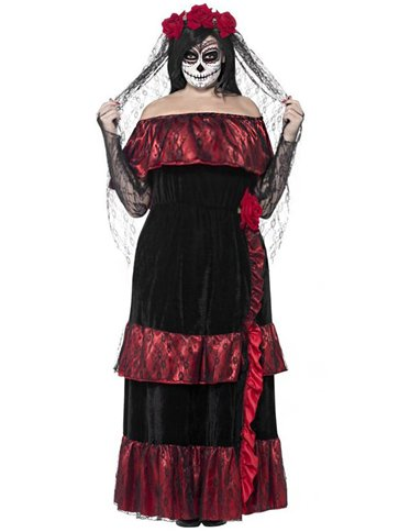 Day of the Dead Bride - Adult Costume front