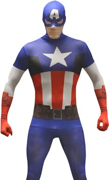 Captain America Morphsuit - Adult Costume